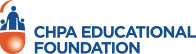 CHPA Educational Foundation Logo in orange and blue