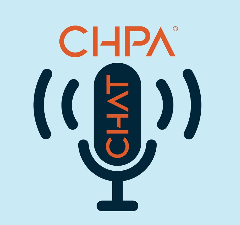 chpa chat logo on blue background